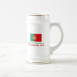 Happy Portuguese Avo (Grandfather) Beer Steins