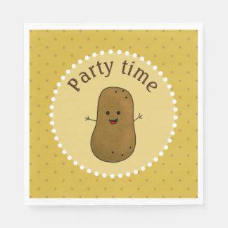 Happy Potato Party Time Paper Napkin