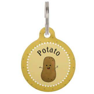 Happy Potato Personalized Pet ID Tag
