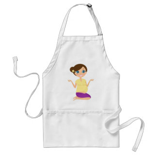Happy pregnant girl with Belly Yellow Standard Apron