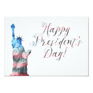 Happy President's Day liberty bokeh Card