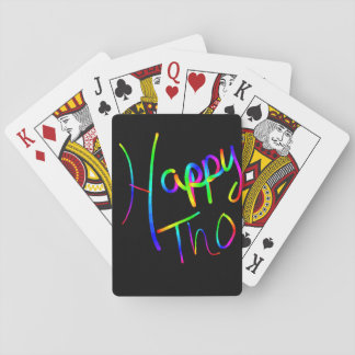 Happy pride playing cards