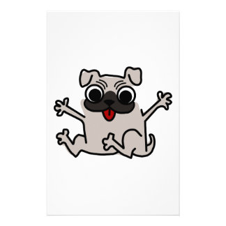 Happy Pug Customized Stationery