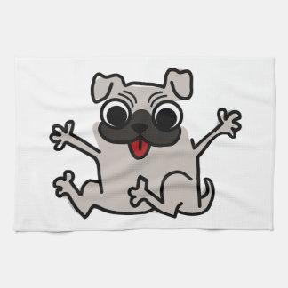 Happy Pug Kitchen Towel
