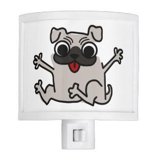 Happy Pug Nite Light