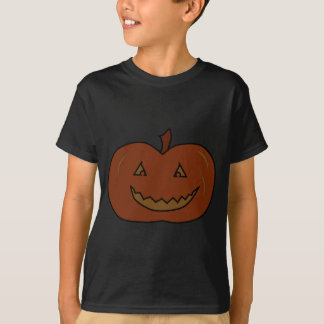 Happy Pumpkin. Dark Colors. Halloween. T-Shirt