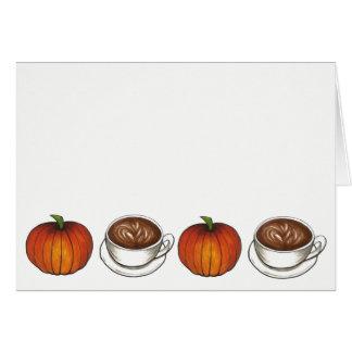 Happy Pumpkin Spice Season Coffee Latte Autumn Card