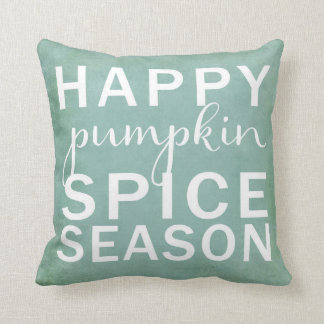 Happy pumpkin spice season throw pillow