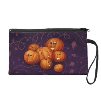 Happy Pumpkins Wristlet Purse