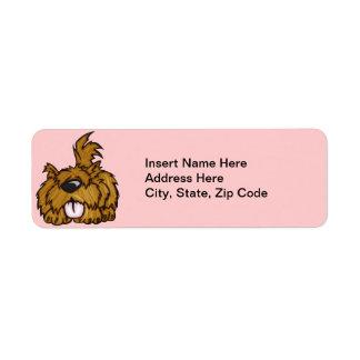 Happy Puppy Dog Return Address Label