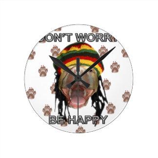 Happy Puppy Round Clock
