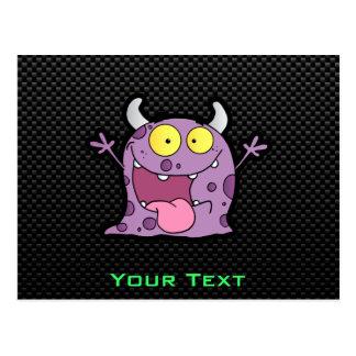 Happy Purple Monster; Sleek Postcard