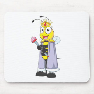 Happy Queen Bee with Queen Clothing Mouse Pad
