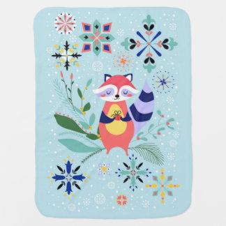 Happy Raccoon Baby Blanket