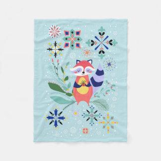 Happy Raccoon Blanket