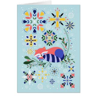 Happy Raccoon Card