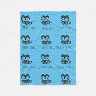 Happy Raccoon Fleece Blanket