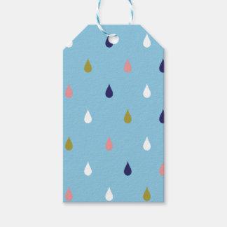 Happy rain drops gift tags