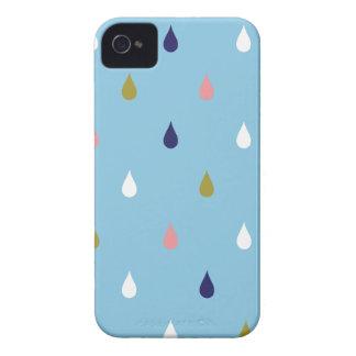 Happy rain drops iPhone 4 Case-Mate case