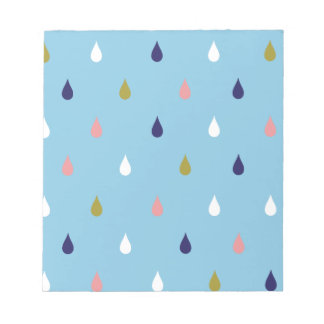 Happy rain drops notepad