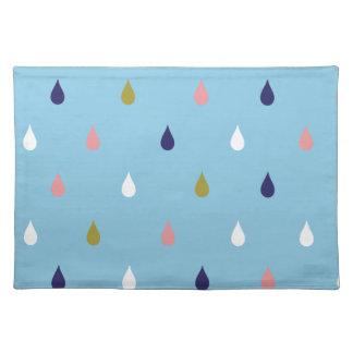 Happy rain drops placemat