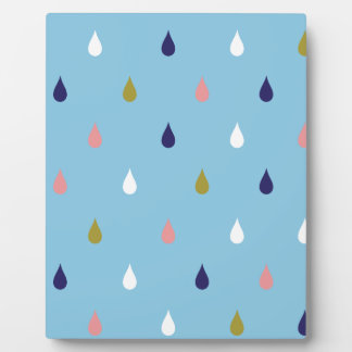 Happy rain drops plaque