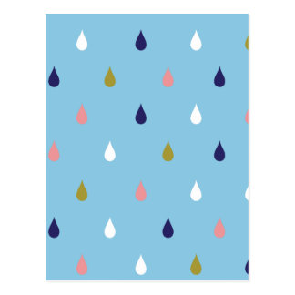 Happy rain drops postcard