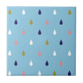 Happy rain drops tile