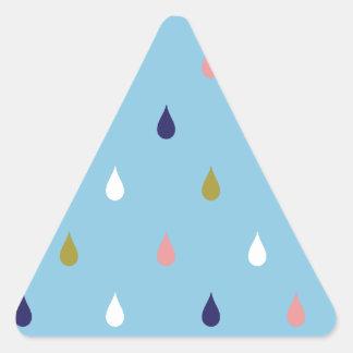Happy rain drops triangle sticker