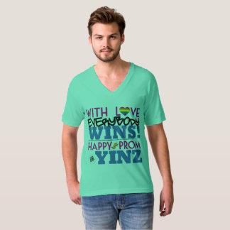 Happy Rainbow Prom Yinz V-neck Tshirt