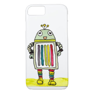 Happy Rainbow Robot iPhone 7 Case