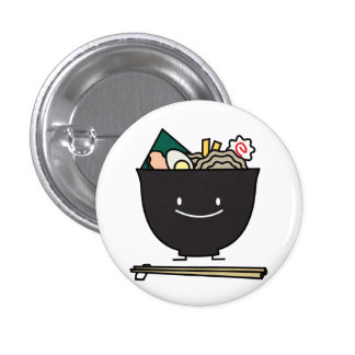 Happy Ramen Bowl 1 Inch Round Button