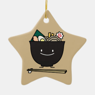 Happy Ramen Bowl Ceramic Ornament