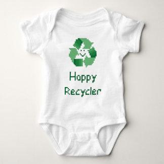 Happy Recycler Cross Stitch Pattern Baby Bodysuit