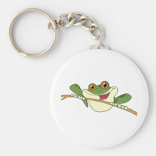 Happy Red Eyed Green Tree Frog Keychains