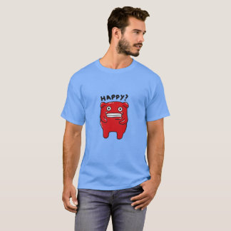 Happy? Red monster T-shirt