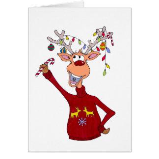 Happy Reindeer Card