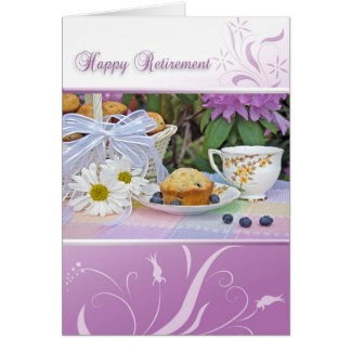 Happy Retirement breakfast Card
