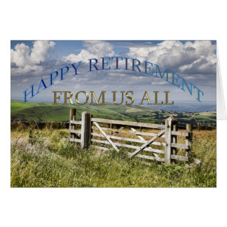 Happy retirement card from us all.