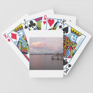 Happy Retirement Cedar Key Florida Bicycle Playing Cards