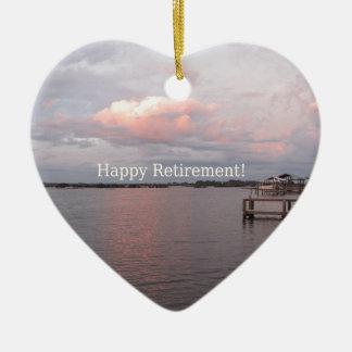 Happy Retirement - Cedar Key Florida Ceramic Ornament