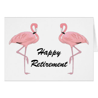 Happy Retirement Classic Flamingos Card