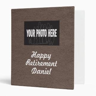 Happy Retirement custom photo memories scrapbook Vinyl Binder