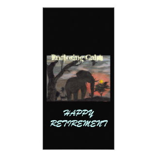 Happy Retirement Enclosing Calm Photo Greeting Card