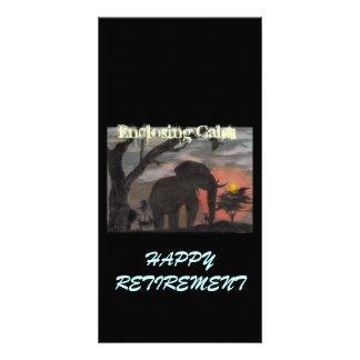Happy Retirement Enclosing Calm Photo Greeting Card
