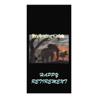Happy Retirement Enclosing Calm Photo Card Template