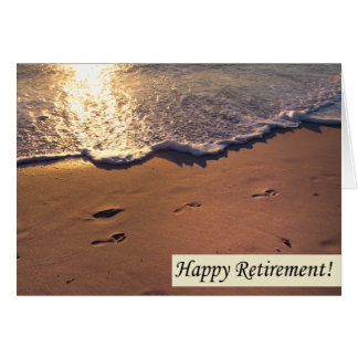 Happy Retirement Footprints In The Sand Card