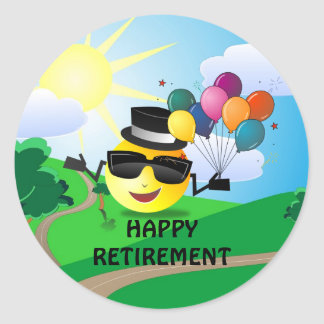 Happy Retirement from Cool Smiley Classic Round Sticker