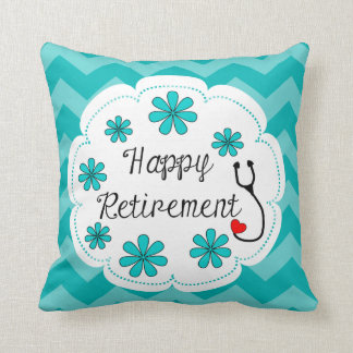 Happy Retirement Medical Throw Pillow