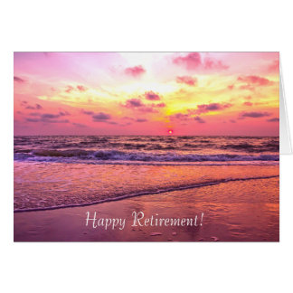 Happy Retirement Naples Florida Sunset Card